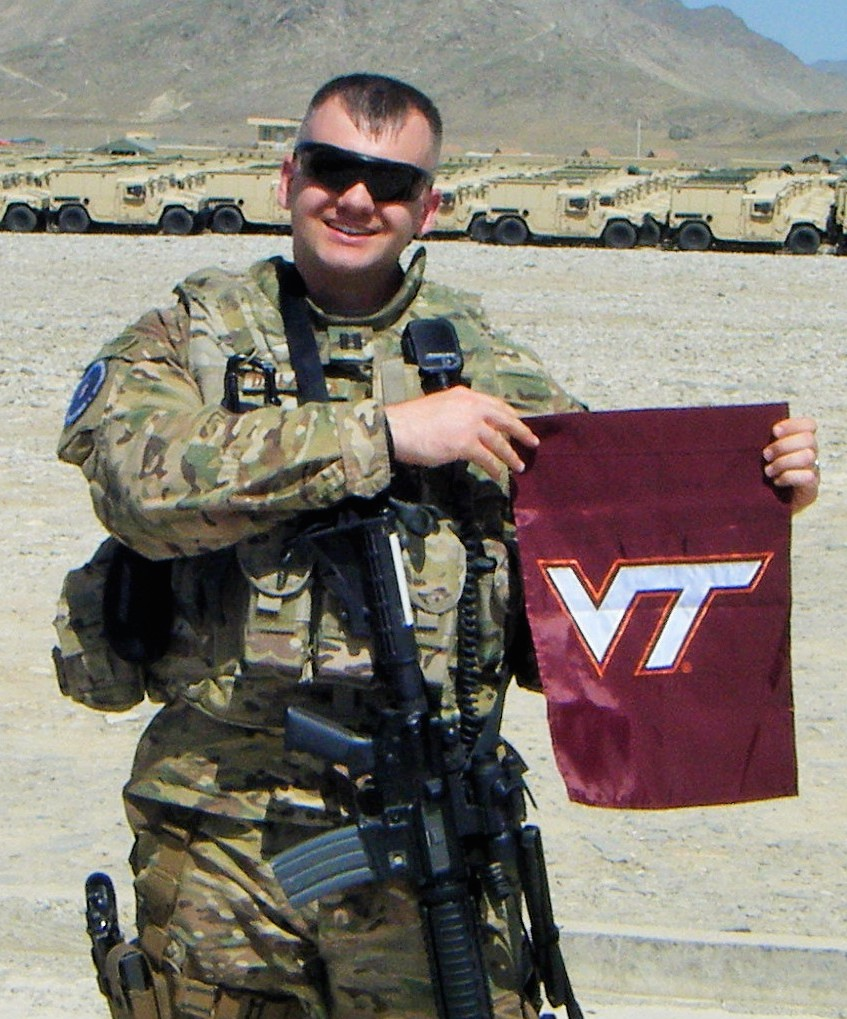 Capt. J. Art De Laura, U.S. Air Force, Virginia Tech Corps of Cadets Class of 2009 in Afghanistan.