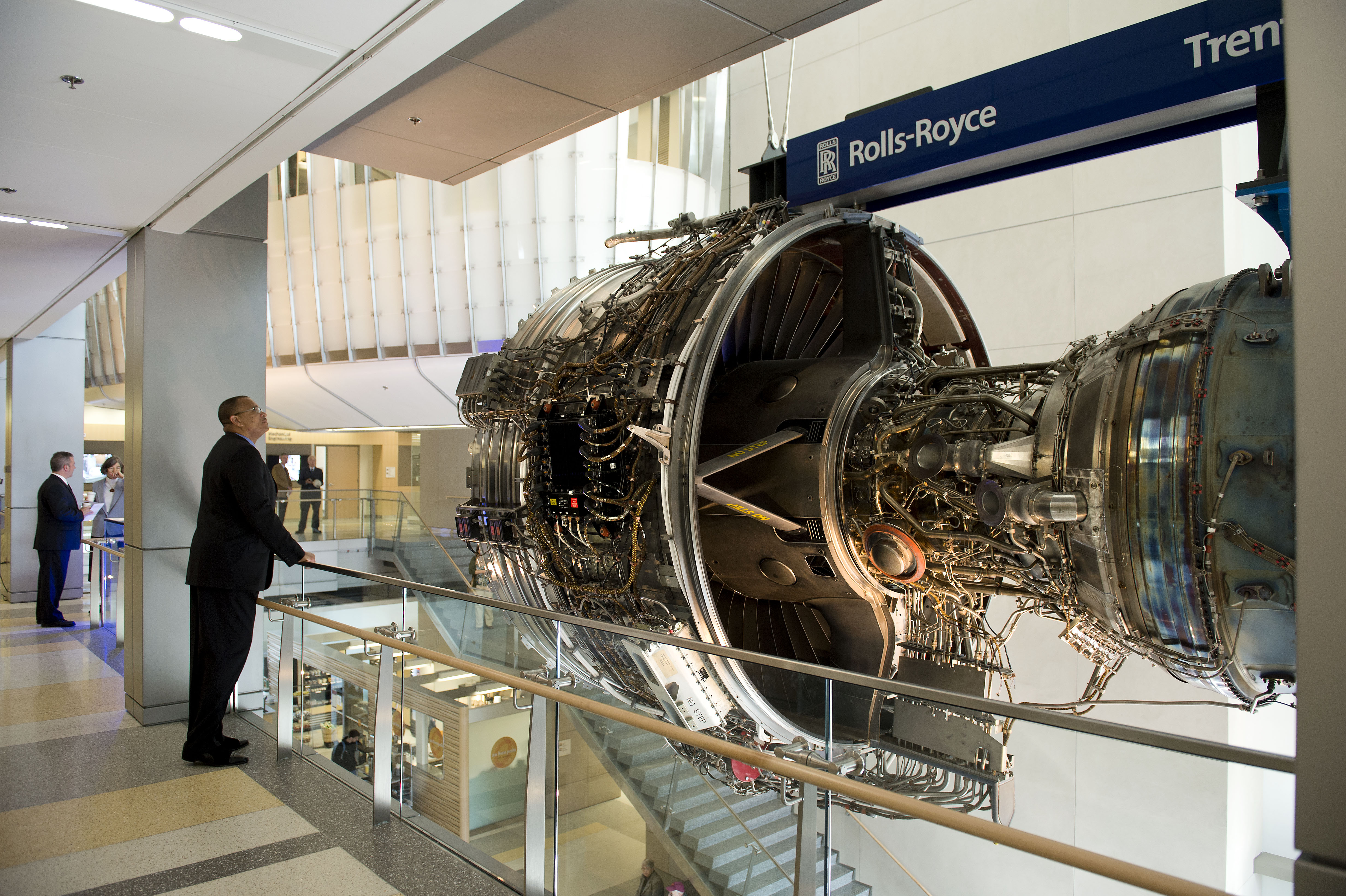 Rolls-Royce, the global power systems company, donated a Trent 1000 jet engine to Virginia Tech.