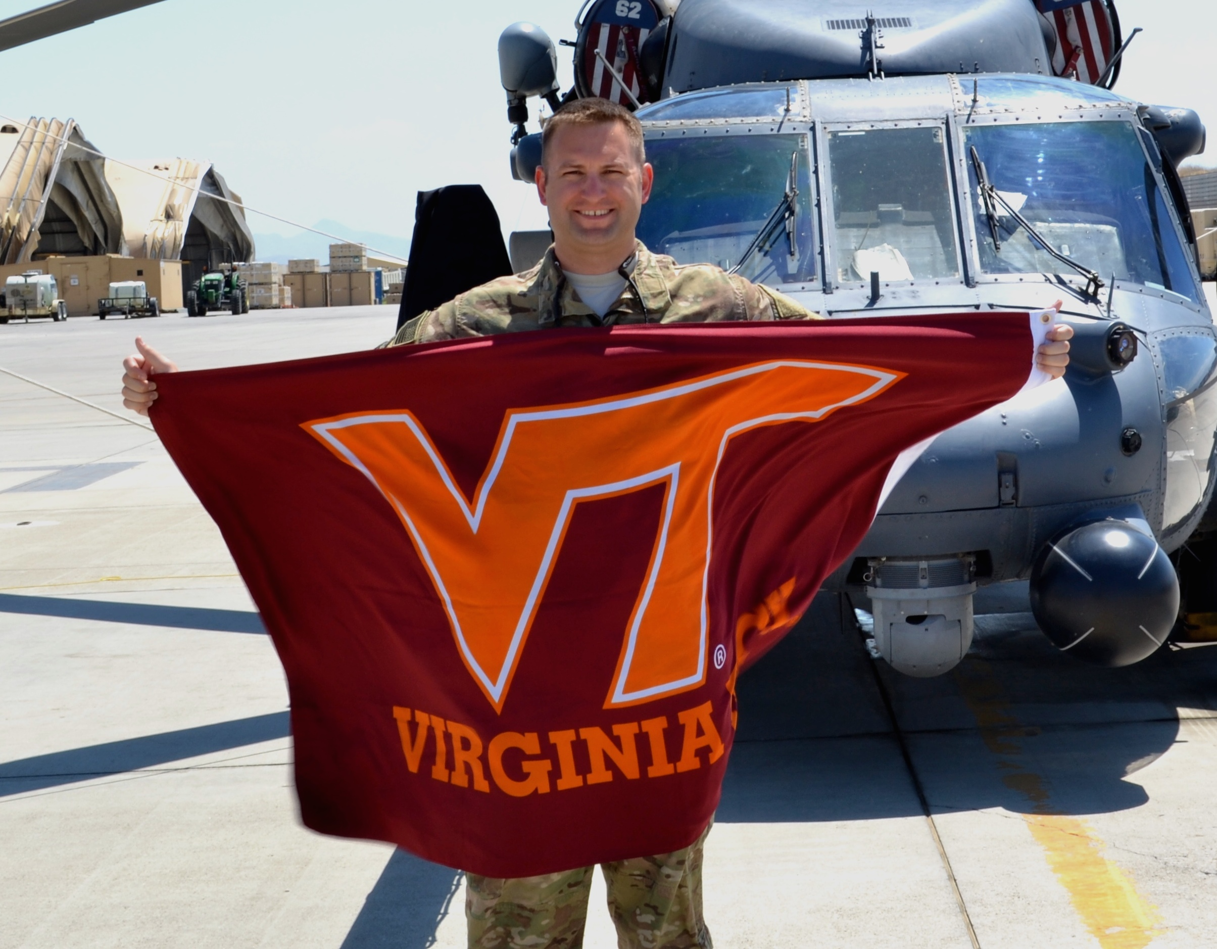 Capt. Chris Horsfall, U.S. Air Force, Virginia Tech Corps of Cadets Class of 2006 in Afghanistan.