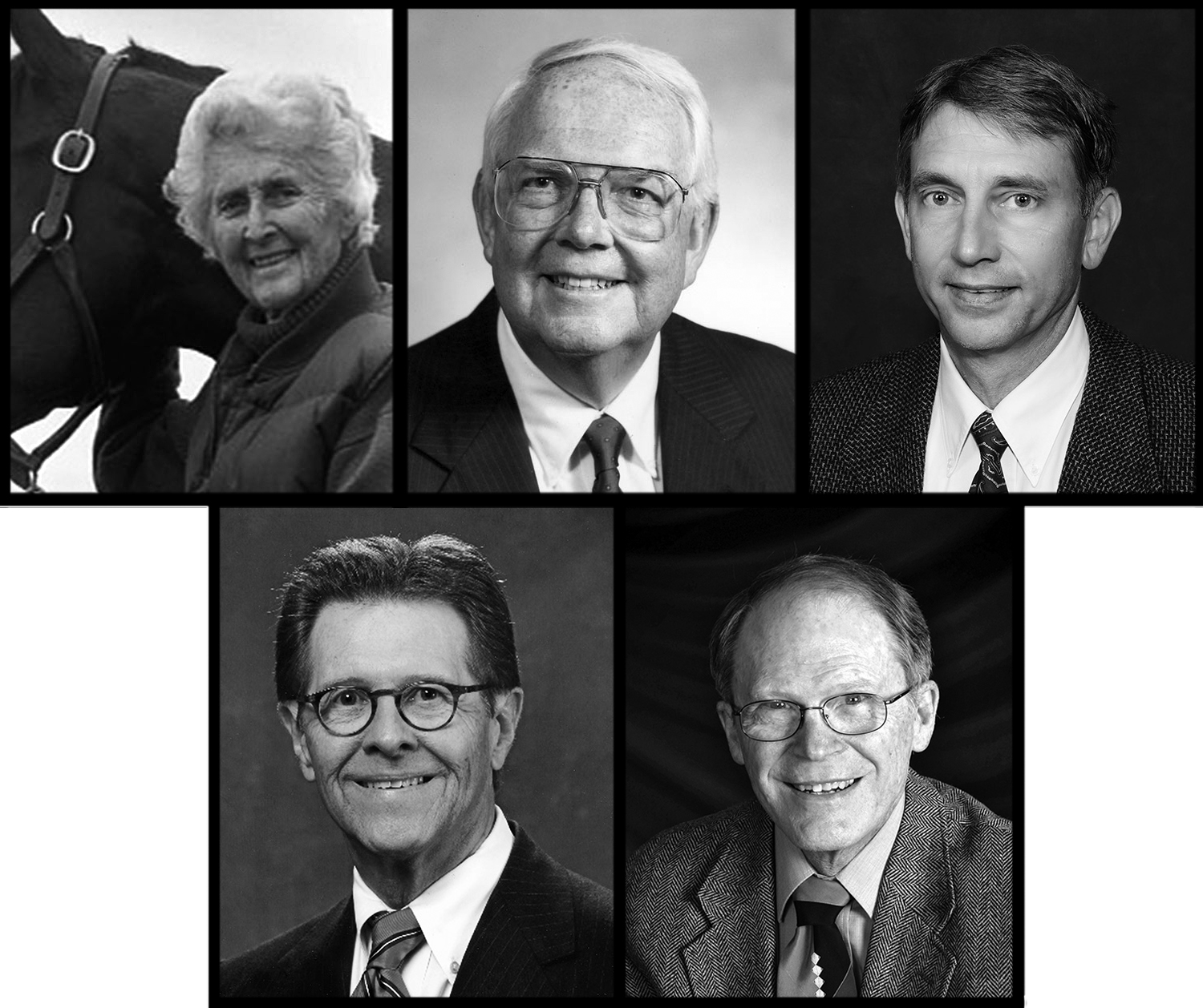 Collage of Livestock Hall of Fame Inductees