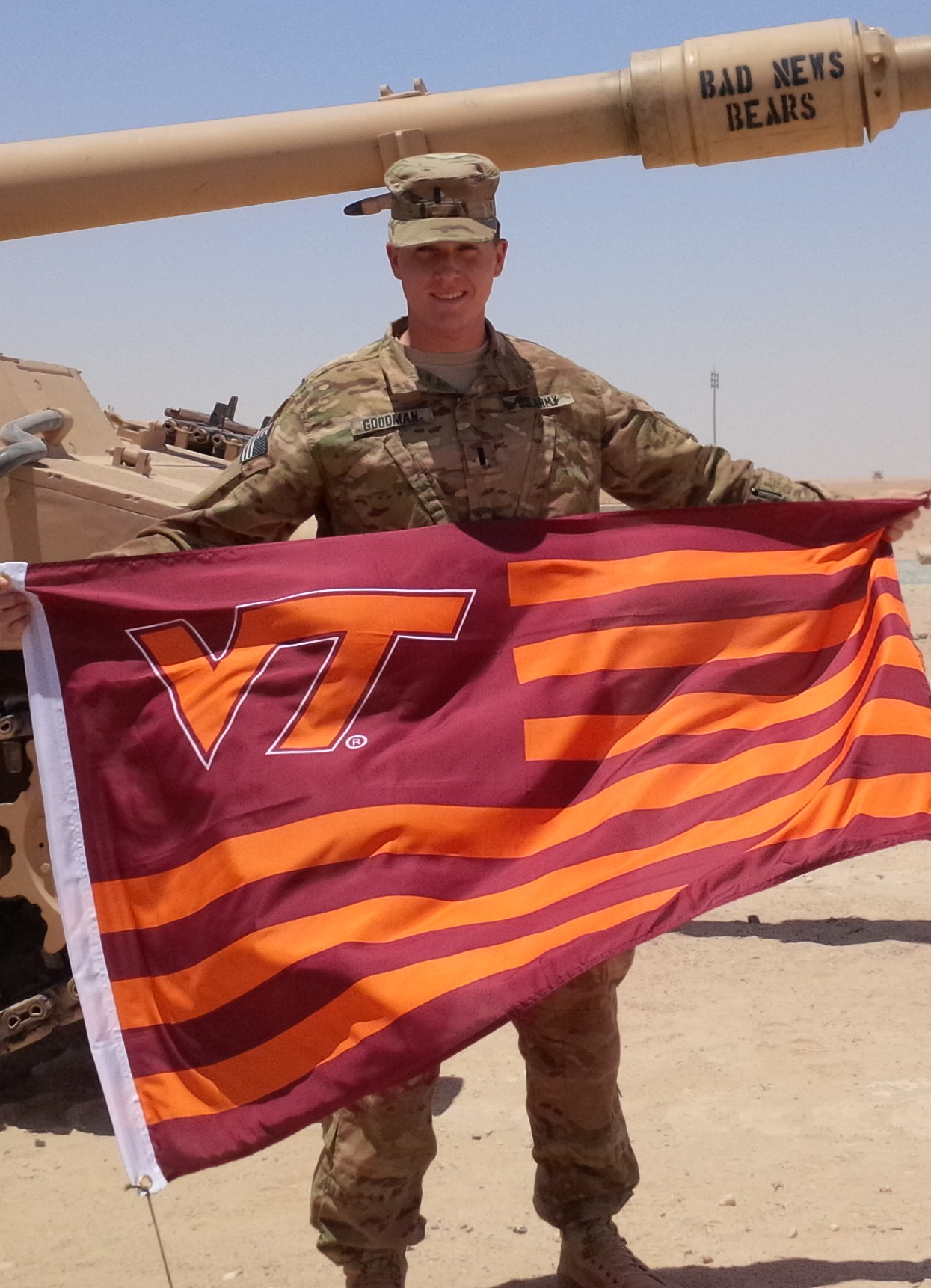 1st Lt. John Goodman, U.S. Army, Virginia Tech Corps of Cadets Class of 2013.