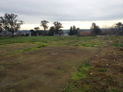 This is the site of the educational garden and greenhouse Travertine Orndorff is planning now and will help build next year in Osorno, Chile.