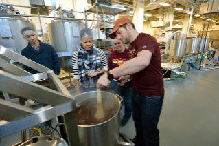 Students at Virginia Tech can now add beer brewing to the list of fermentation study offerings in the Department of Food Science and Technology. The new brewhouse came online late in 2015 and is on par with what most commercial craft beer brewers use, giving students a unique learning opportunity.