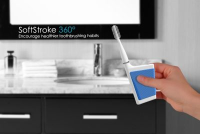 The SoftStroke 360 smart toothbrush by Ari Horowitz, winner of the Connected Future Competition