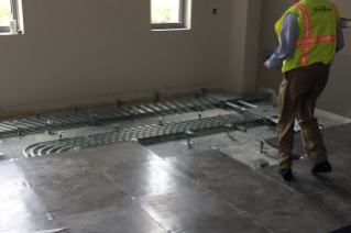 The classrooms have a raised floor construction, which allows flexibility to update the technological capacity of the rooms more easily in the future.