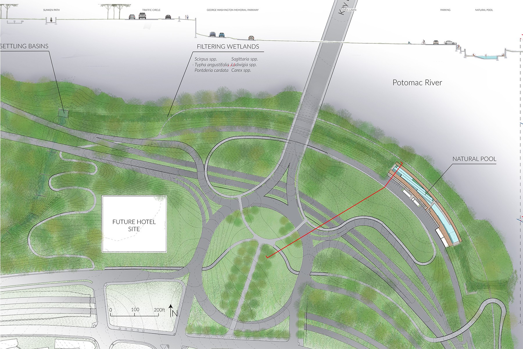 Virginia Tech Students Work With Arlington County Planners To Reimagine Rosslyn Waterfront