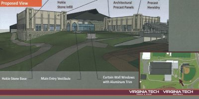 Rendering of changes to Rector Field House