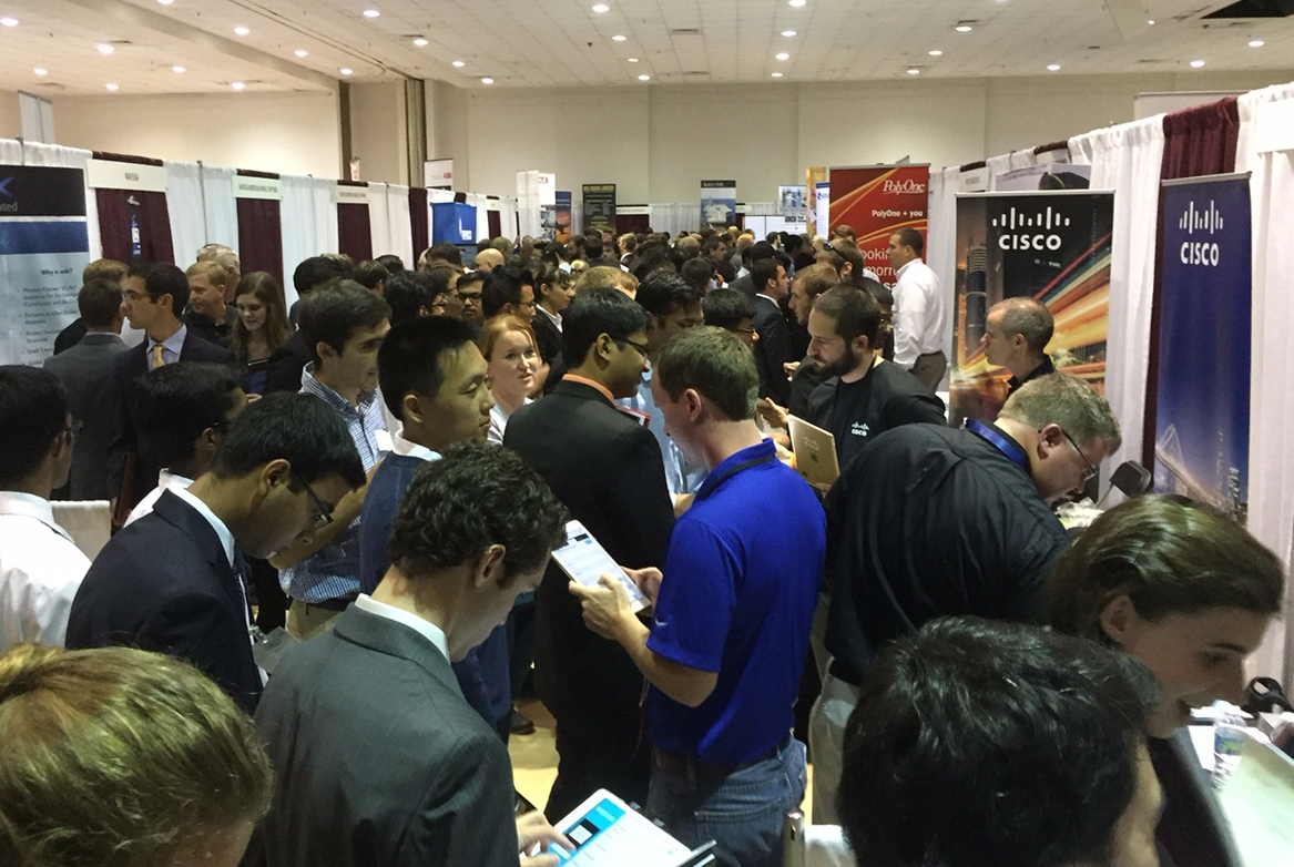 annual student engineers council career fair attracts record high student  company