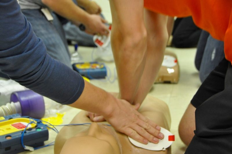 Virginia Tech Rescue Squad CPR class