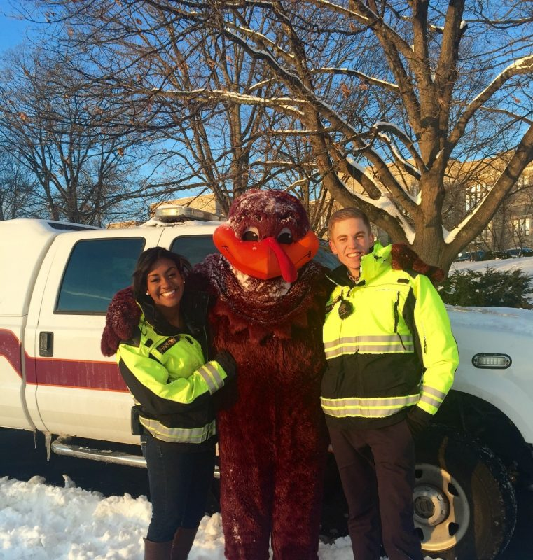VTRS members on standby with the HokieBird