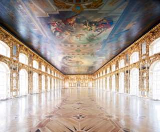 "Candida Höfer, ""Catherine Palace Pushkin St. Petersburg III"" (2014). C-print, 70 7/8 x 82 11/16 inches. Edition of 6 with 3 APs. Courtesy of the artist and Sean Kelly, New York."