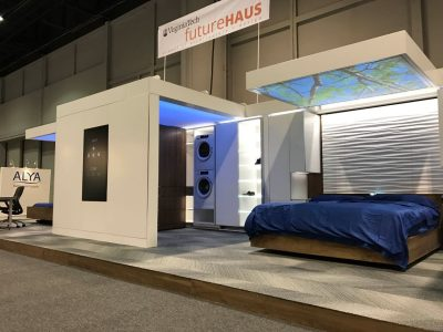 Virginia Tech's FutureHAUS Bedroom and Home Office at KBIS.
