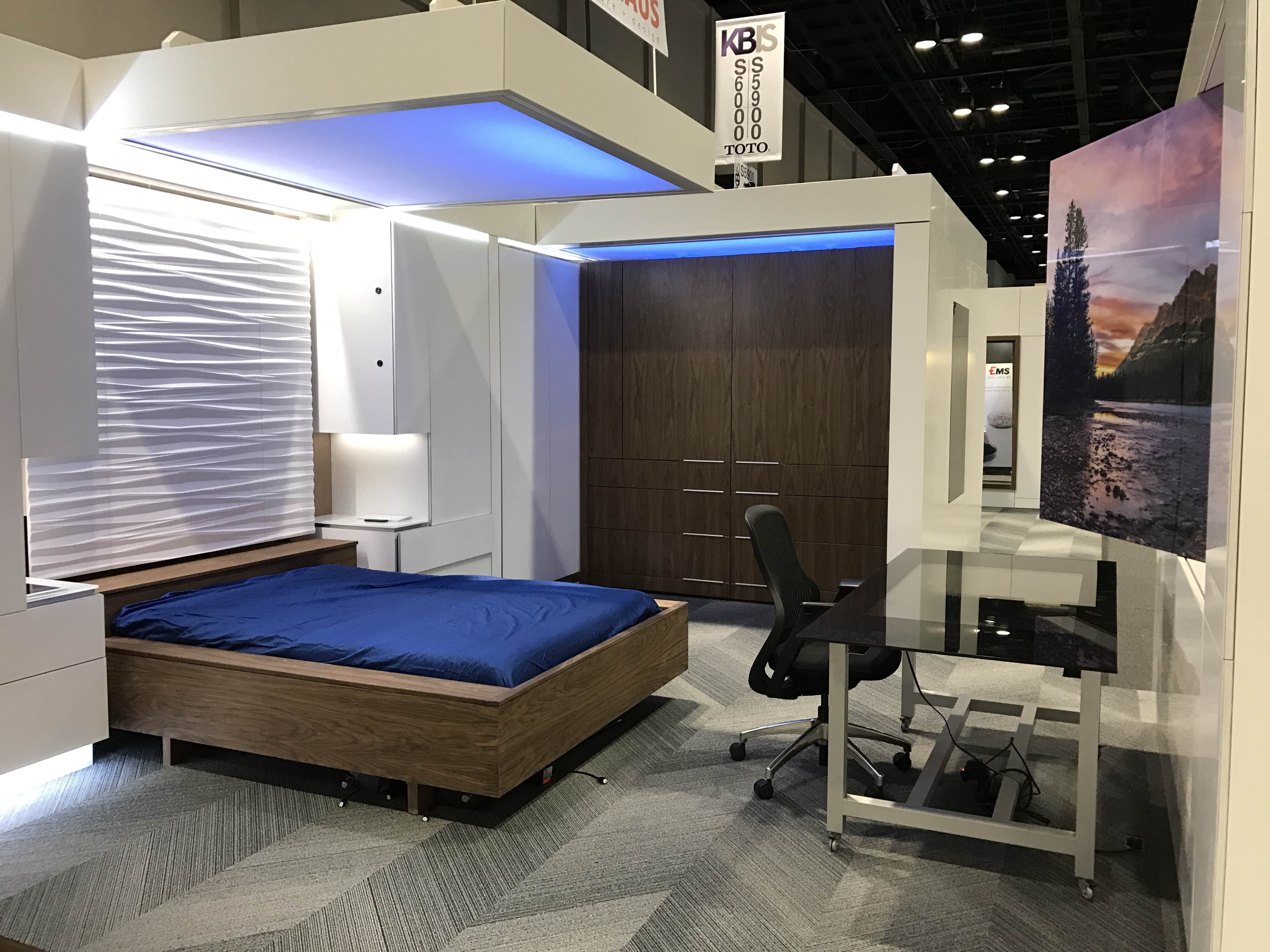 The office converts to a guest bedroom with a simple voice command or  gesture. Virginia Tech FutureHAUS wows crowds at KBIS   News   Virginia Tech