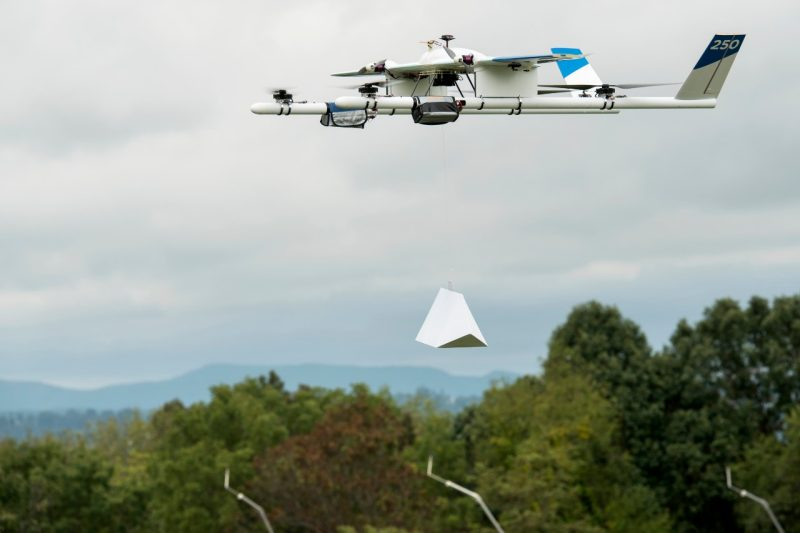 Project  Wing's drone with  burrito payload