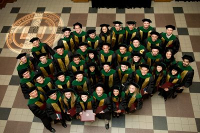 The Class of 2014, the school's charter class, graduates in May 2014.