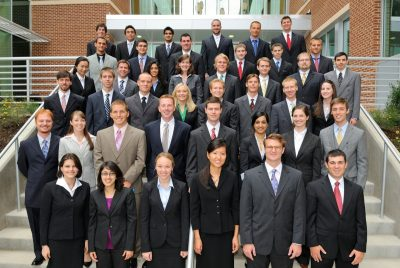 The charter class, the Class of 2014, on their first day at the Virginia Tech Carilion School of Medicine, August 2, 2010.