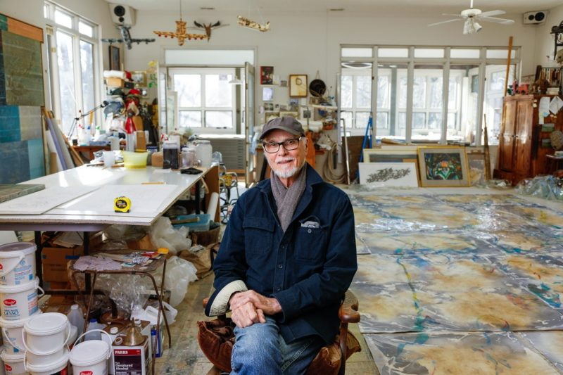 Ray Kass in his studio