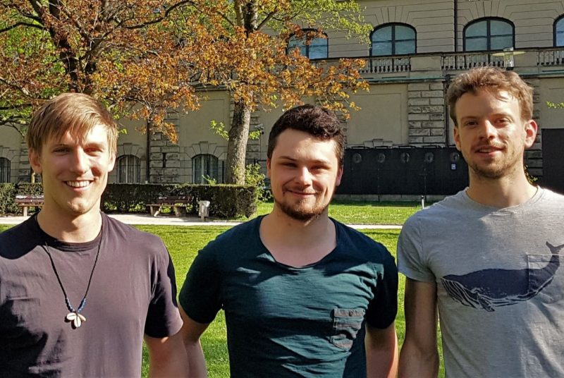 The three members of  Team FeetBack -- from left,  Lukas Braisz, Simon Staffa, and Patrick Scholl