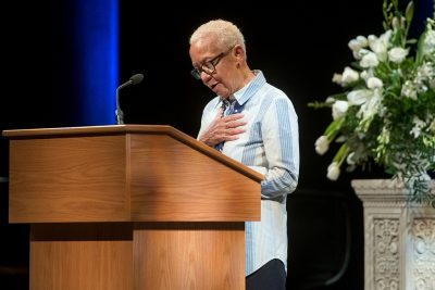University Distinguished Professor Nikki Giovanni reads a poem