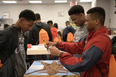 Rising seniors participating in the Black College Institute got to experience some of what goes on at the Virginia–Maryland College of Veterinary Medicine.