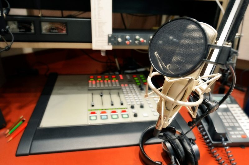 WVTF Public Radio station equipment.