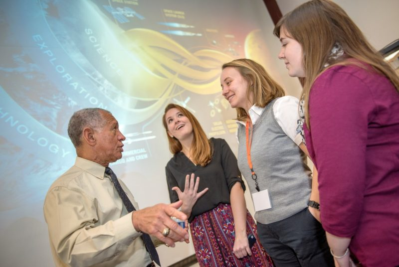 Charles Bolden with Creative Writing Students
