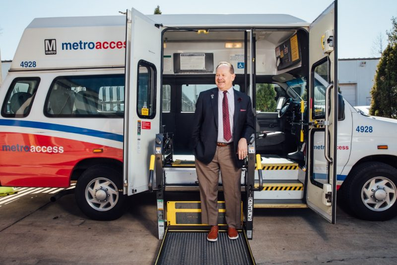 Robbie Werth with a MetroAccess van.