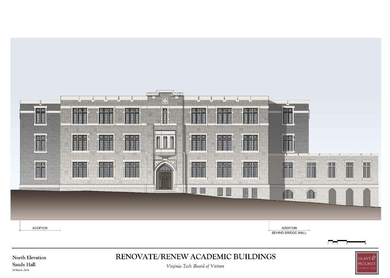 Proposed Sandy Hall Rendering