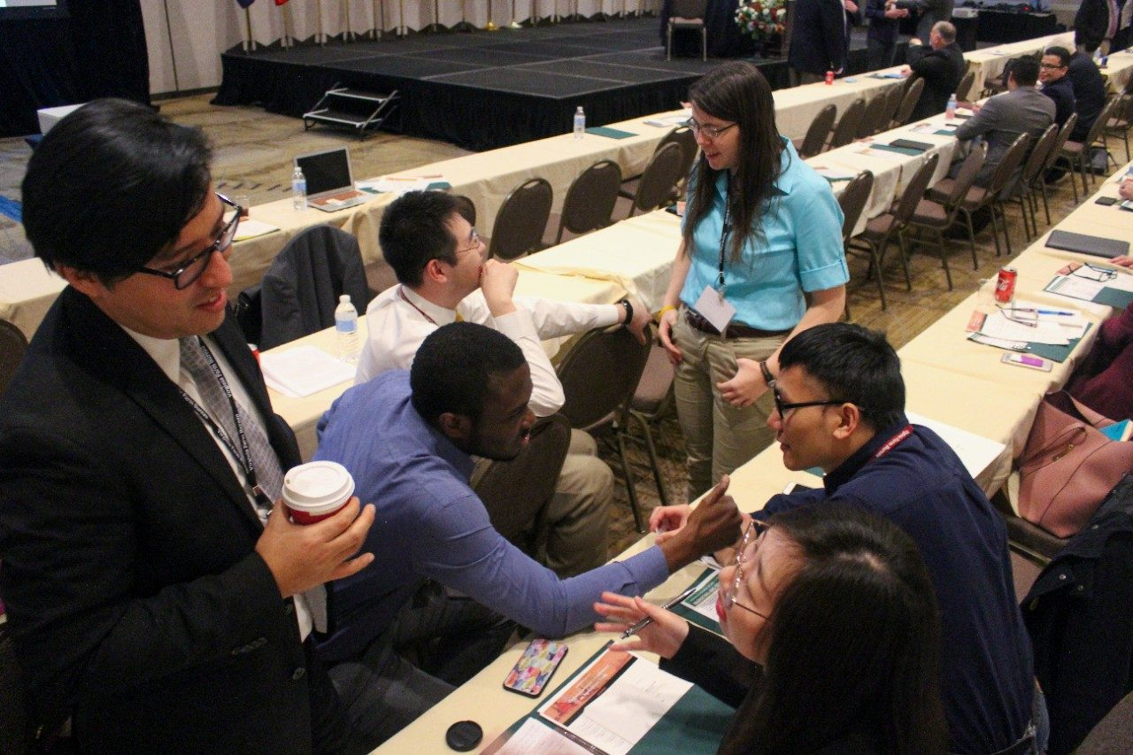 Virginia Tech students discuss issues at the eleventh annual Virginia Governro's Conference on Agricultural Trade.