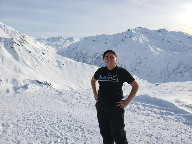Nizhoni Tallas at the Swiss Alps.