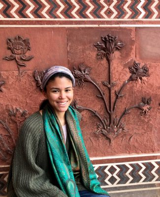 Student on the India and Social Justice study abroad program.