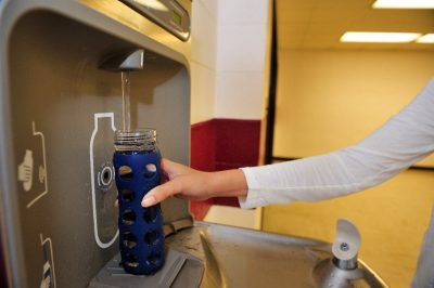 Green RFP Water Bottle Refill Station