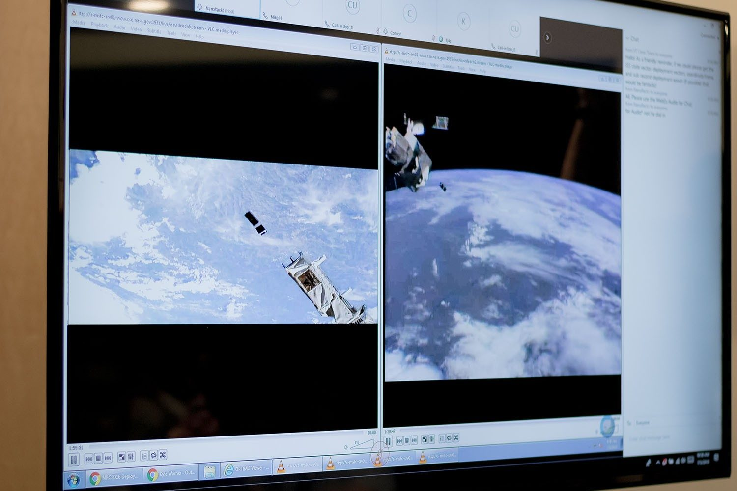 Virginia Tech's cube satellite deployed from the International Space Station on July 3.