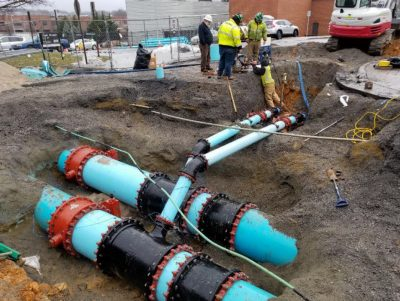 Pipes to be installed during chilled water infrastructure project