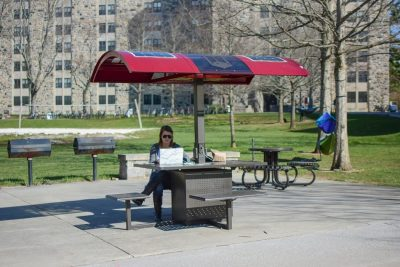 Solar Charging Table on Campus