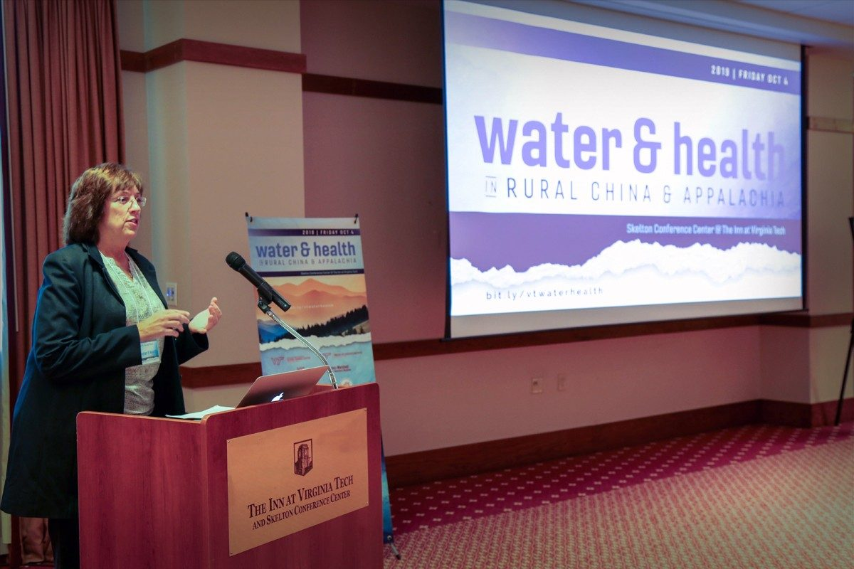 Laura Hungerford presenting at the Water&Health Conference
