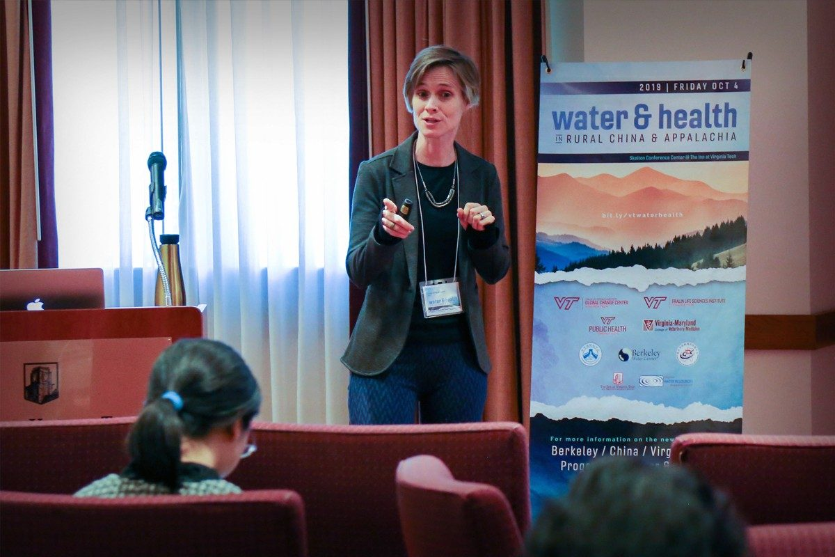 Leigh-Anne Krometis presenting at the Water&Health Conference