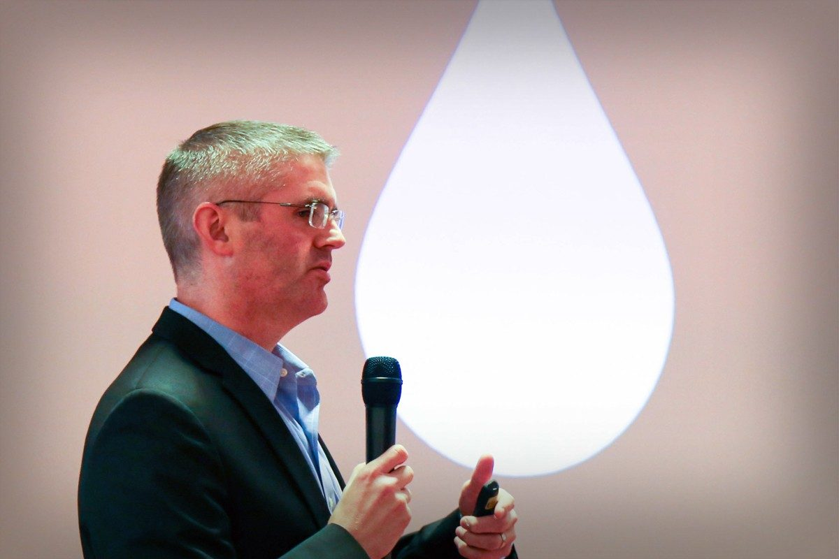 Ralph Hall presenting at the Water&Health Conference