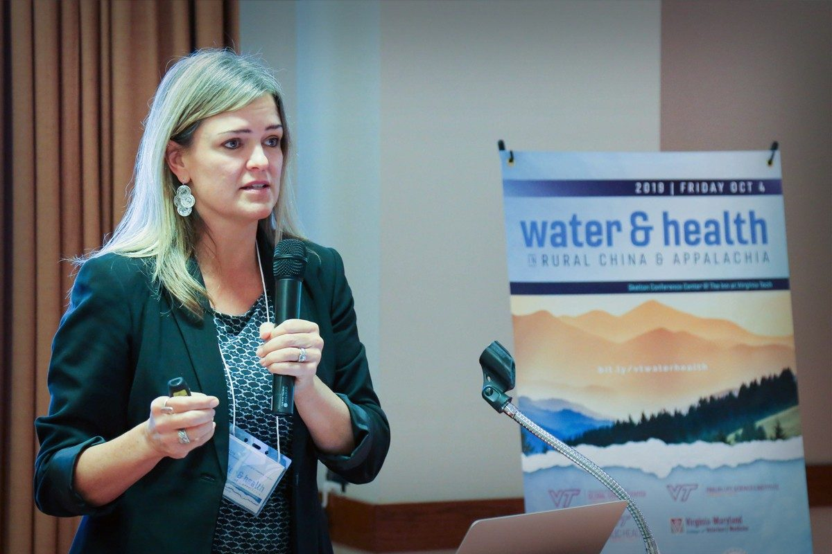 Erin Ling presenting at the Water&Health Conference