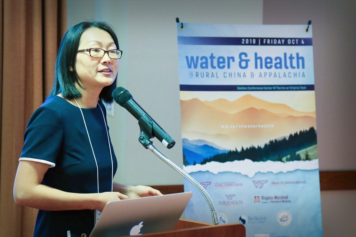 Dai Dongjuan presenting at the Water&Health Conference