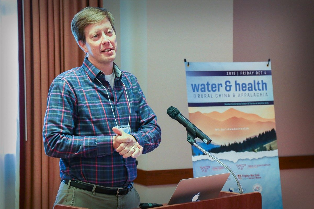 Peter Vikesland presenting at the Water&Health Conference
