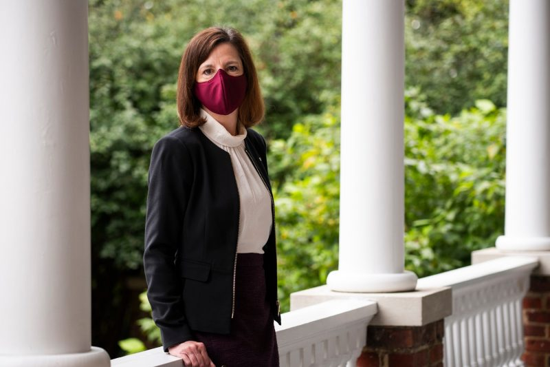 Photo of Dr. Laura Sands standing outside.