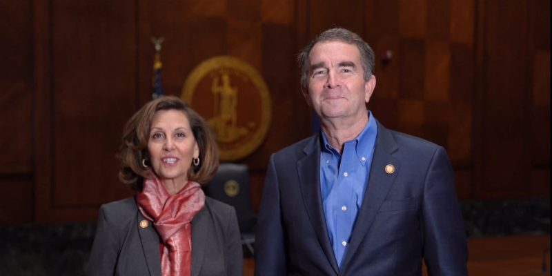 Virginia Gov. Ralph Northam and first lady Pam Northam at 2020 Governor's Honor Awards Ceremony.