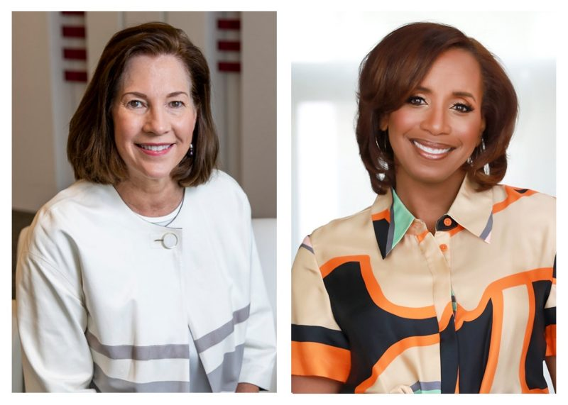 From left: Lynne Doughtie, Kelly Richmond Pope. Photo composite by Charlotte Cannon/PRISM