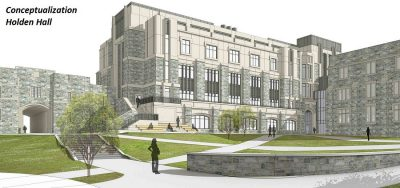 Holden Hall exterior rendering