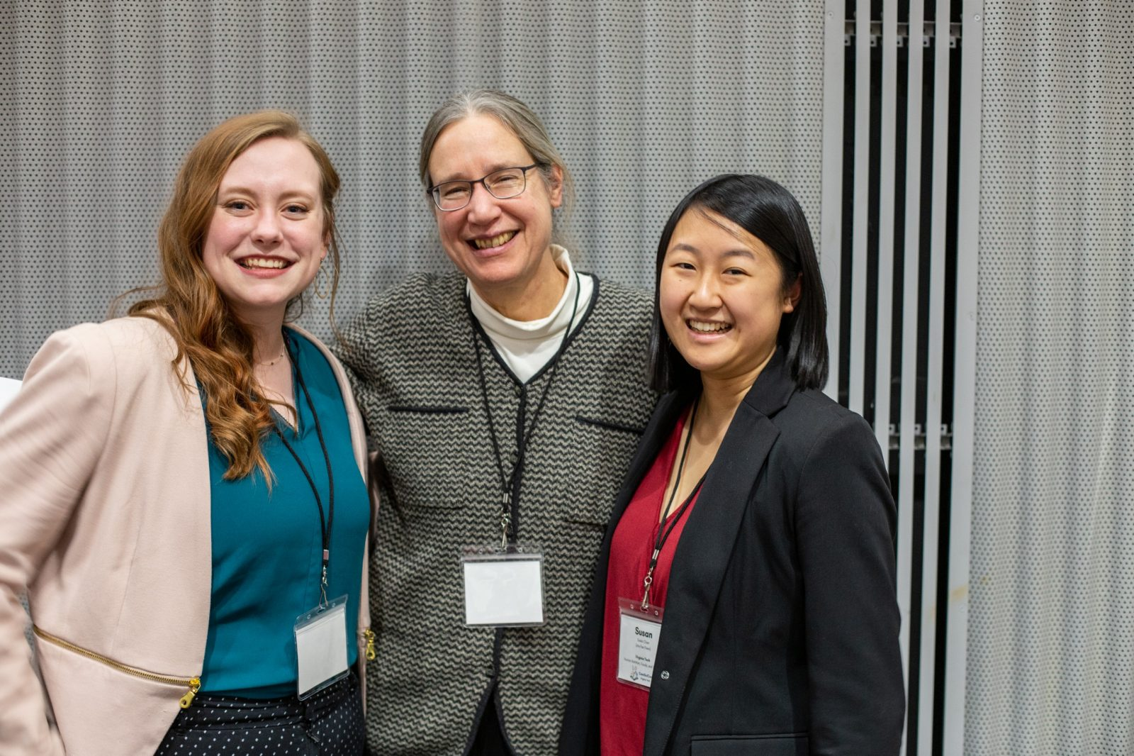 Stephanie Edwards Compton (left) and Susan Chen (right) were the co-chairs of the ComSciCon organizing committee. Carrie Kroehler (center), associate director for the Center for Communicating Science, attended and participated in many workshops. Photo courtesy of Alex Freeze.