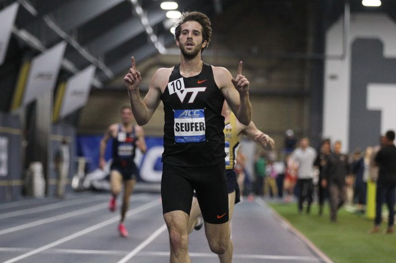 Peter Seufer, a redshirt senior, won both the 3,000- and 5,000-meter races at the ACC Indoor Track & Field Championships this year.