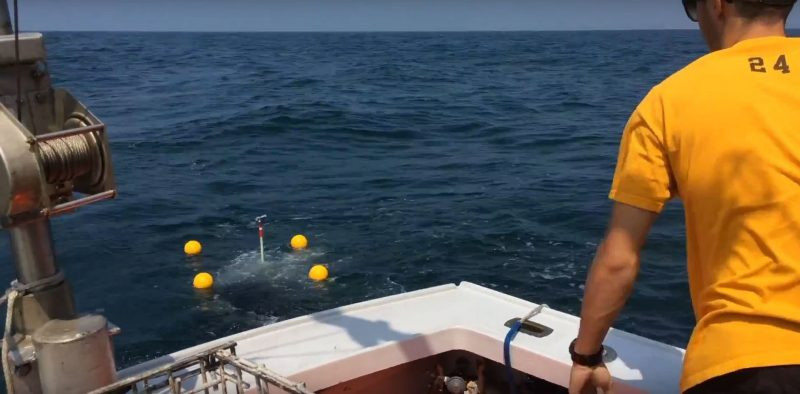 Field experiment off the coast of Martha's Vineyard.