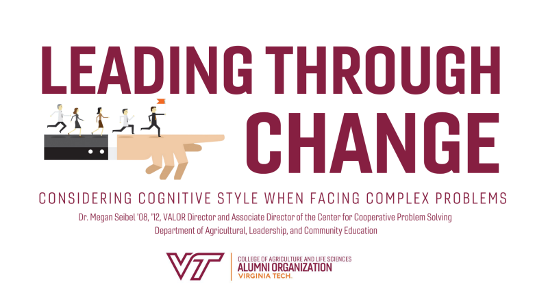 Leading through change webinar is on Sept. 9