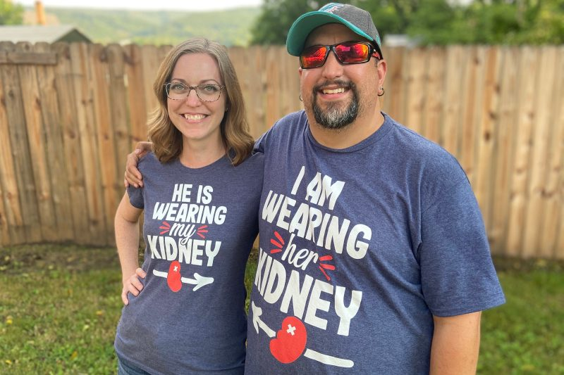 Brian Huddleston with Heather Parrish, his kidney donor